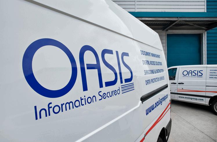 Side of OASIS Group van